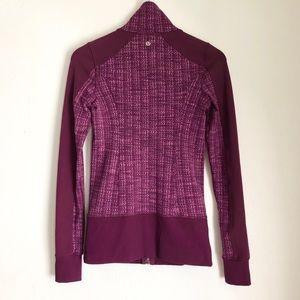 Lululemon Jacket Zipper up Burgundy Size 6 🍇